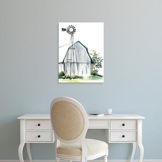 Easy Art Prints Jennifer Paxton Parker's 'Watercolor Barn I' Premium Canvas Art