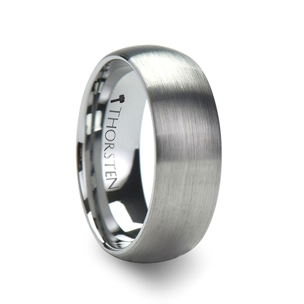 PERSEUS Domed with Brushed Finish Tungsten Band - 2mm