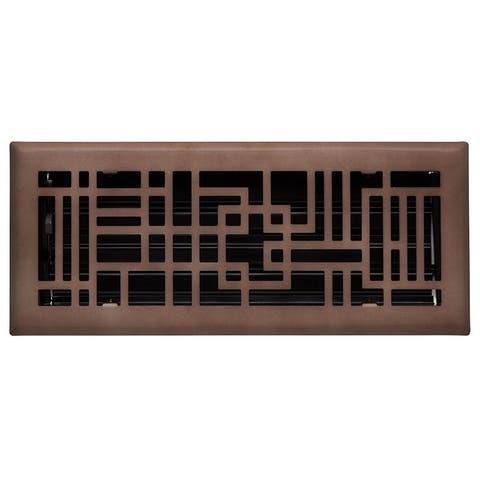 "Signature Hardware 941729-4-10 Baer Steel Floor Register - 4"" x 10"""