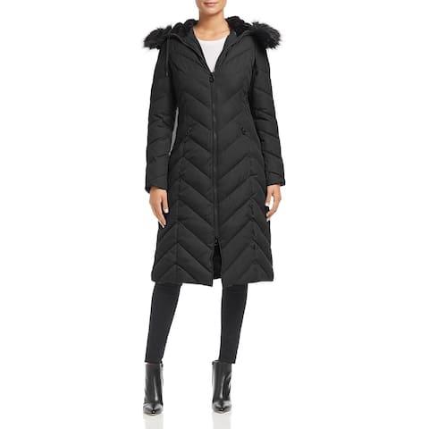 Laundry by Shelli Segal Women's Black Down Maxi Coat (XS)