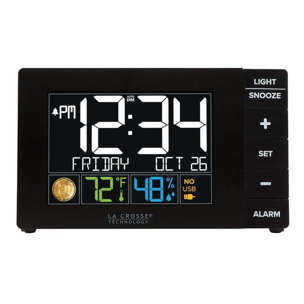 La Crosse Technology W88723 Color Alarm with Temp & humidity with USB. Opens flyout.