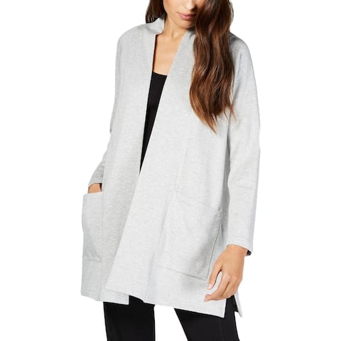Eileen Fisher Womens Cardigan Top Open Front Long Sleeves - L