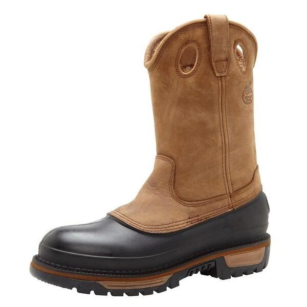 """Georgia Boot Work Mens 11"""" Muddog Steel Toe Waterproof Brown"""