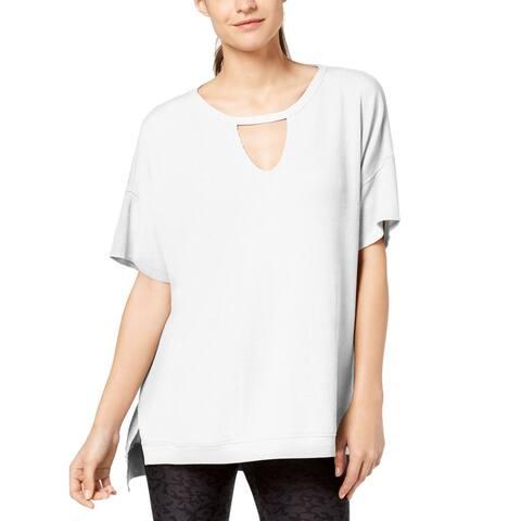 Calvin Klein Performance Women's Keyhole Top, (White XL)