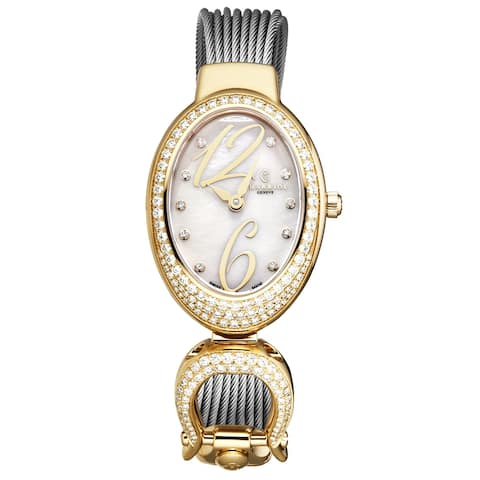 Charriol women's 'marie olga' swiss quartz watch moyd1.570.002