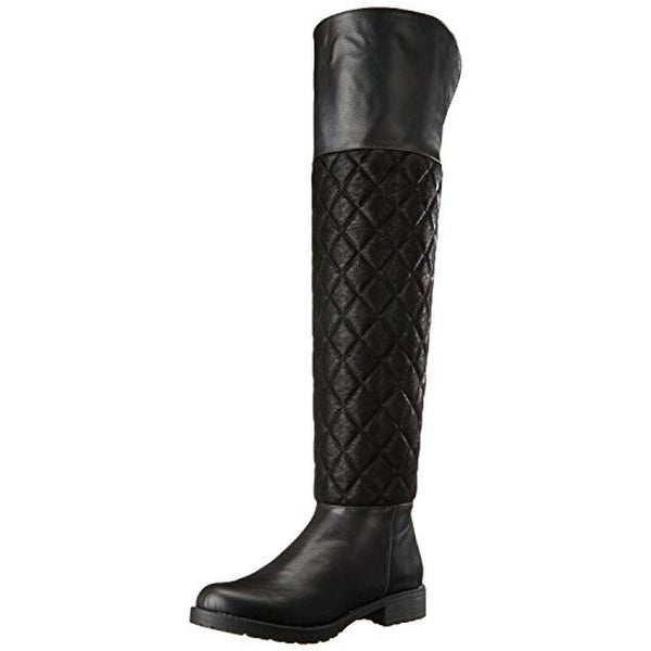 Penny Loves Kenny Womens Dion Riding Boots Faux Leather Fold-Over