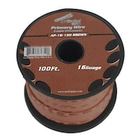 Audiopipe 16 gauge 100ft Brown primary wire