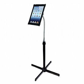 Cta Digital Height-Adjustable Gooseneck Floor Stand For 7-13 Inch Tablets