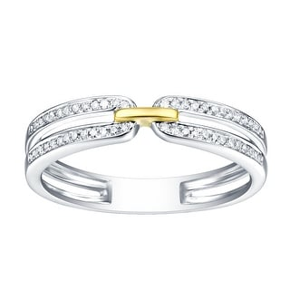 Prism Jewel 0 13Ct Round G H I1 Natural Diamond Two Tone Gold Band