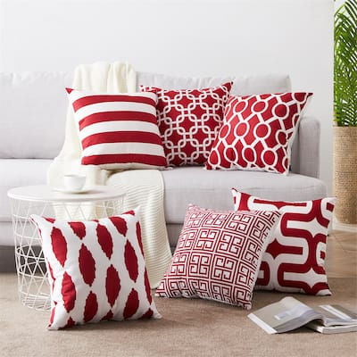 Topfinel Outdoor Square Pillow Cover (Set of 6)