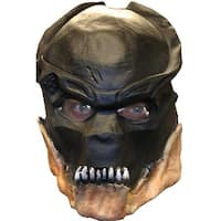 Predators 3/4 Vinyl Adult Costume Mask - Black