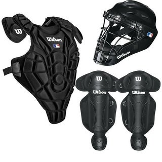 Wilson Youth EZ Gear Baseball Catcher's Set (Small/Medium/Black)