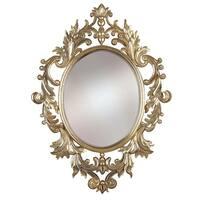 Kenroy Home 60010 Louis Oval Mirror - silver leaf