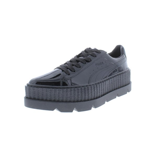 5f991745f9f Fenty Puma by Rihanna Womens Pointy Creeper Fashion Sneakers Patent Lace-Up  - 6.5 Medium