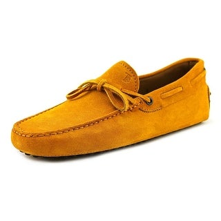 Tod's New Laccetto Occh. New Gommini 122 Youth Moc Toe Suede Yellow Loafer