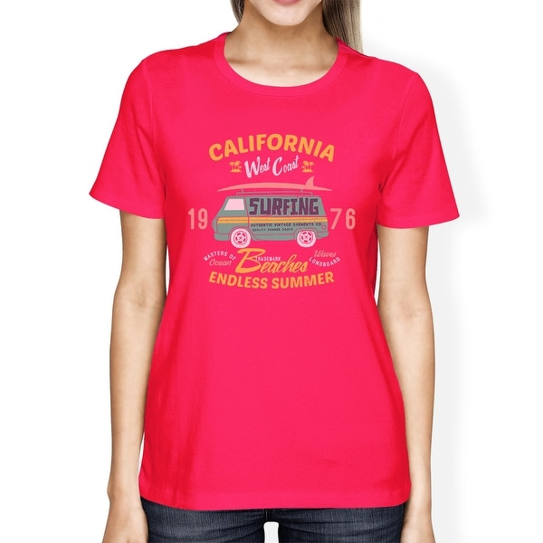 7acd11d118cec Shop California Beaches Endless Summer Womens Hot Pink Round Neck Tee - Free  Shipping On Orders Over $45 - Overstock - 16703854