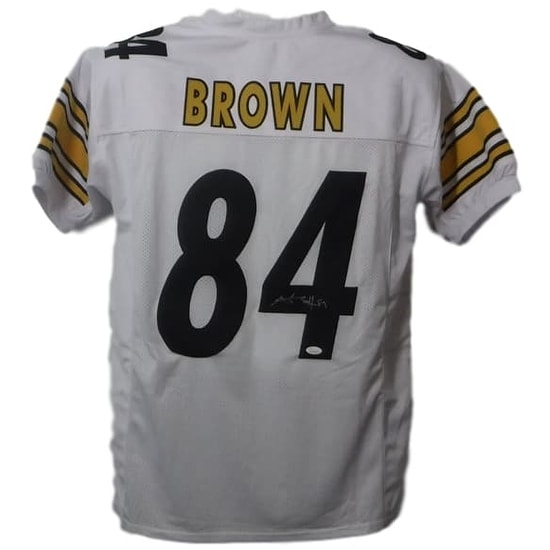 cb8a3b0d616 Shop Antonio Brown Autographed Pittsburgh Steelers Custom White Size XL Jersey  JSA - Free Shipping Today - Overstock - 16797795