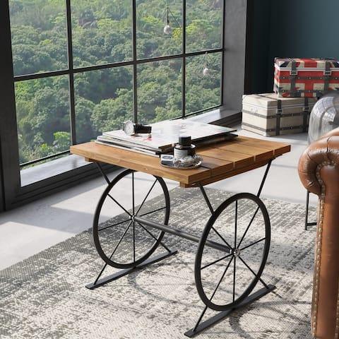 Carbon Loft Dietrich Industrial Wheel End Table