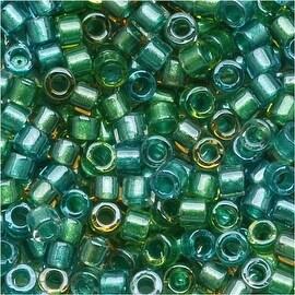 Miyuki Delica Seed Beads 11/0 'Lined Aqua Teal Mix' DB984 7.2 GR