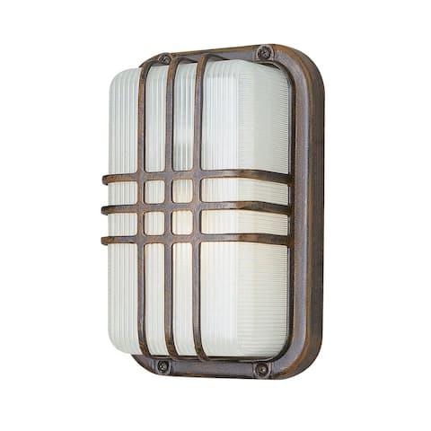 Outdoor Imports PL41104 RT 10`` High Rectangle Bulkhead Energy Efficie - Exact Size