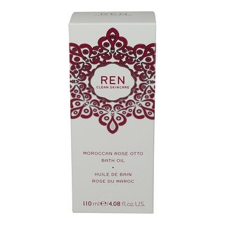 REN Skincare Moroccan Rose Otto Bath Oil, 4.08 Fluid Ounce
