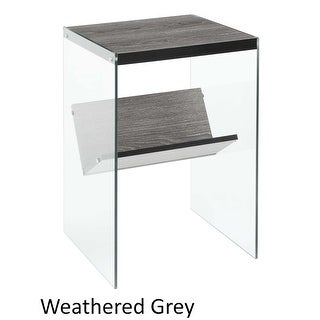 Link to Porch & Den Urqhuart Wood/ Glass End Table Similar Items in Living Room Furniture