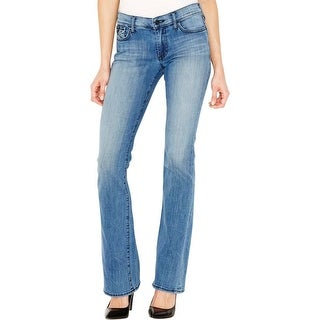 True Religion Womens Becca Bootcut Jeans Mid-Rise Flap Pocket