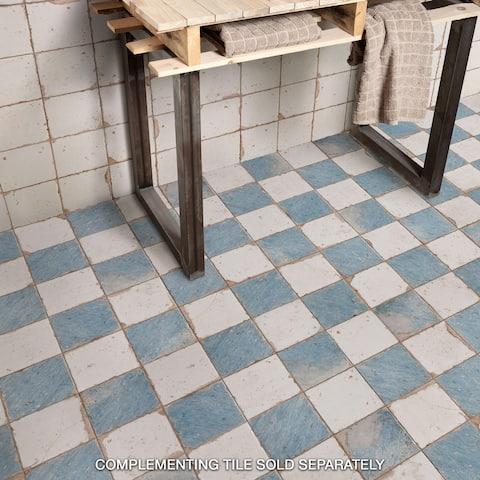 SomerTile 13x13-inch Artesano Damero Azul Ceramic Floor and Wall Tile