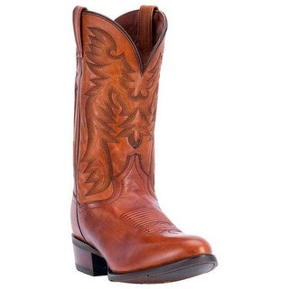 Dan Post Western Boots Mens Centennial Round Leather Cognac DP2161R