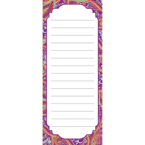 """Positively Paisley Note Pad, 3 1/2"""" x 8 1/2"""", 50 Sheets, Pack of 12 - One Size"""