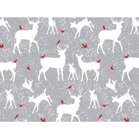 """Pack Of 1, Woodland Frost 24"""" X 85' Roll Christmas Premium Gift Wrap Papers For 40-50 Gifts Made In Usa"""