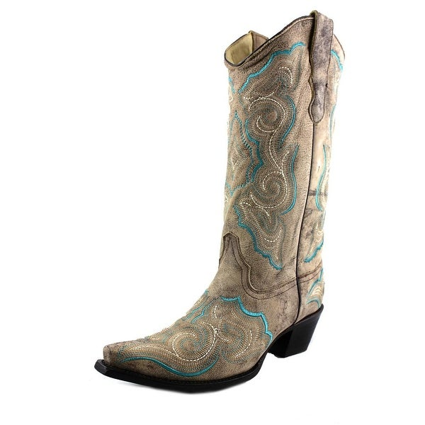 Corral E1002 Pointed Toe Leather Western Boot