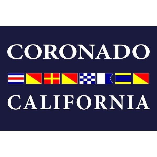 Coronado, CA - Nautical Flags (Acrylic Wall Clock)