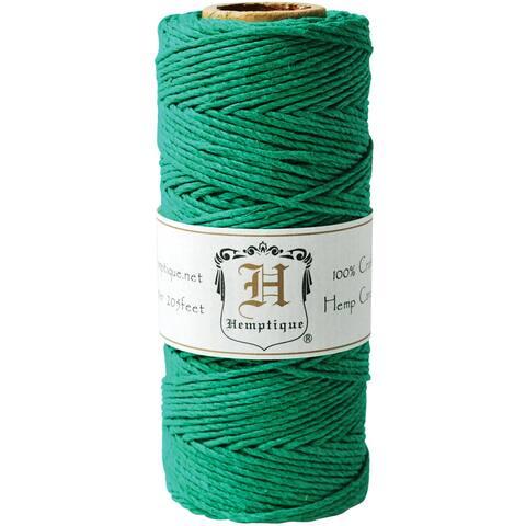 Hemp Cord Spool 20lb 205'-Green - Green