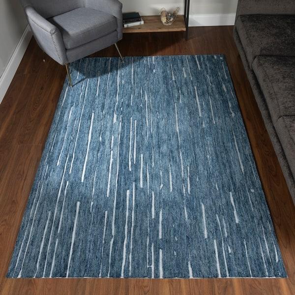 Addison Dazzle Modern Hand Spun Wool And Metallic Area Rug On Sale Overstock 30543124