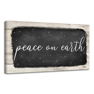 Link to Ready2HangArt 'Peace on Earth I' Holiday Canvas Wall Art by Olivia Rose Similar Items in Christmas Decorations