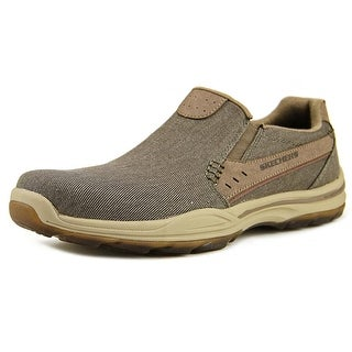 Skechers Element-Legon Men  Round Toe Canvas Brown Loafer