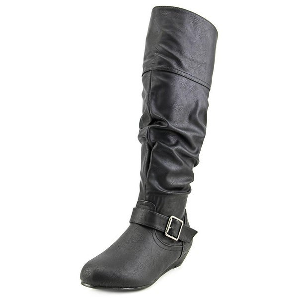 Vybe Lauren Women Round Toe Synthetic Black Knee High Boot