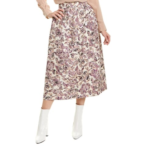 Anna Sui Butterfly Garden Maxi Skirt