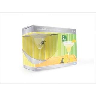 Camco 43902 Unbreakable Margarita Glass Set - 12 Oz.