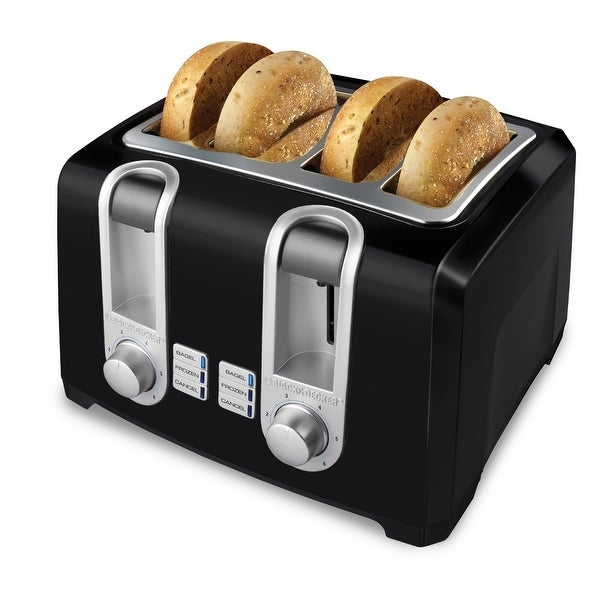 Black & Decker T4569B Toaster, 4-Slice, Black
