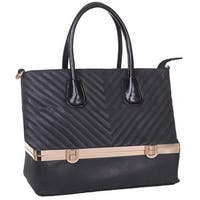 Mad Style Black Laila Stow-Away Tote