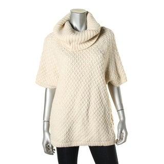 Alice + Olivia Womens Oversized Dolman Sleeves Turtleneck Sweater - L