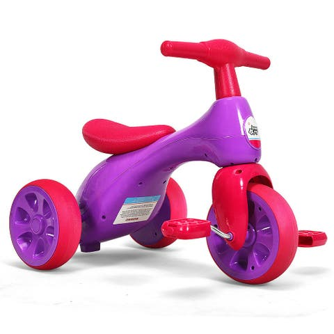 Costway 2 in 1 Toddler Tricycle Balance Bike Scooter Kids Riding Toys