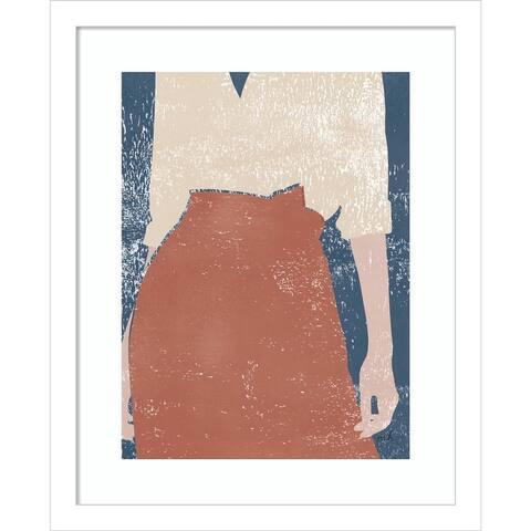 Casual IV (Woman) by Moira Hershey Framed Wall Art Print