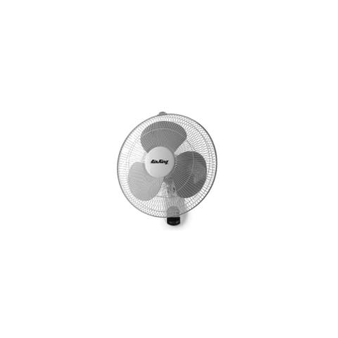 """Air King 9046 16"""" 1480 CFM 3-Speed Commercial Grade Oscillating Wall Mounted Fan with Remote"""