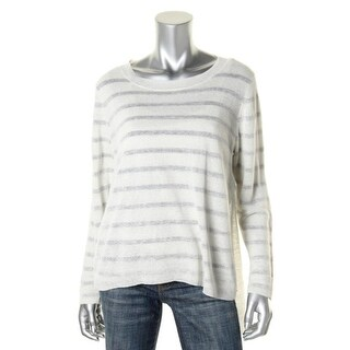 Eileen Fisher Womens Linen Blend Long Sleeves Pullover Sweater - XL