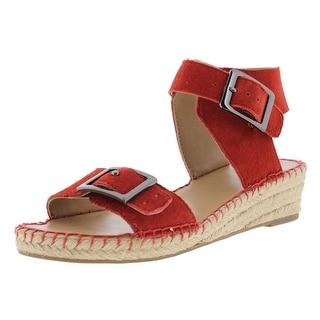 Franco Sarto Womens Latin Suede Espadrille Wedge Sandals - 7 medium (b,m)