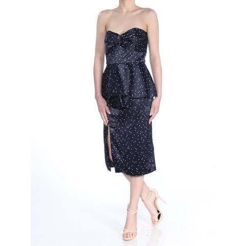 BARDOT Navy Sleeveless Knee Length Peplum Dress Size 4