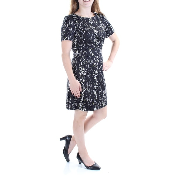 FRENCH CONNECTION Black Short Sleeve Above The Knee Dress 4. Opens flyout.